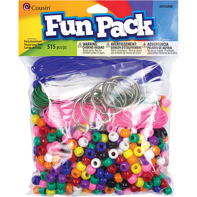 Cousin CCPP-34301 Fun Pack Pony Bead Party Pack 515-Pkg-Neon