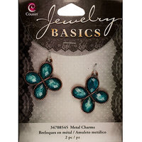 Cousin 150103 Jewelry Basics Metal Chandeliers 2-Pkg-Silver Square