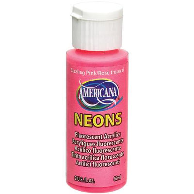 Deco Art 409481 Americana Neons Fluorescent Acrylic Paint 2 Ounces-Sizzling Pink