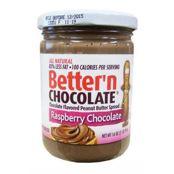 Better N Peanut Butter Better'n Chocolate Peanut Butter Spread Raspberry Chocolate 16 oz