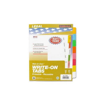 Kleer-Fax Index Tabs and Dividers Write-On Tabs, Erasable, Reusable