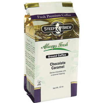 Steep & Brew Chocolate Caramel Ground Coffee, 12 oz