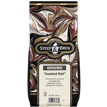 Steep & Brew Toasted Nut Ground Coffee, 12 oz