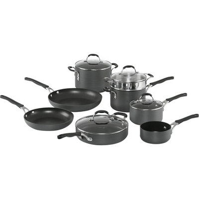 Cooking With Calphalon 12-Pc. Hard-Anodized Cookware Set