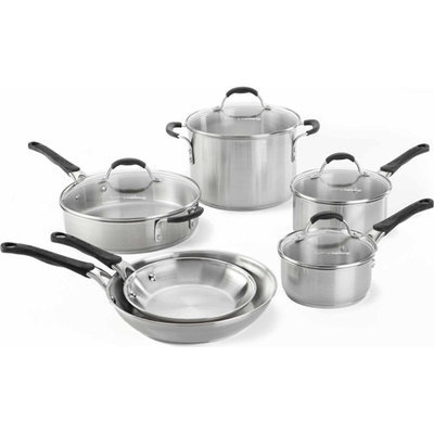 Cooking With Calphalon 10-Pc. Stainless Steel Cookware Set