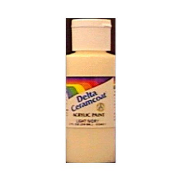 Delta Creative Ceramcoat Acrylic Paint 2 Ounces-White/Semi-Opaque