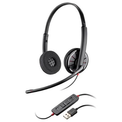 Plantronics Blackwire C320-m Headset - Stereo - USB - Wired - Over-the-head - Binaural - Supra-aural - Noise Cancelling Microphone (89919-78)