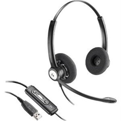 Plantronics Entera Hw121n-USB-m Headset - Stereo - USB - Wired - Over-the-head - Binaural - Supra-aural - Noise Cancelling Microphone (202239-01 2)