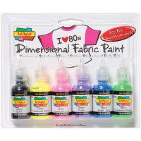 Duncan Toys Tulip Dimensional Fabric Paint 6/Pkg-Neon