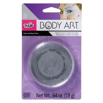 Tulip D28817 Body Art Metallic Silver Paint
