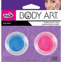 Tulip Body Art Glitter 6g 2/Pkg -Aqua/Neon Pink