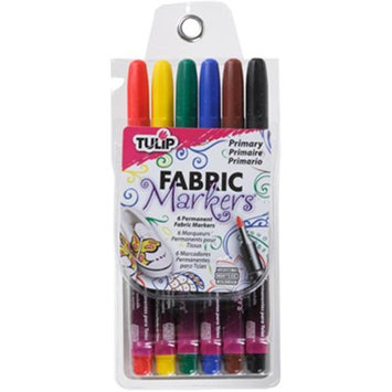 I Love To Create Tulip Writer Fabric Markers 6/Pkg-Primary