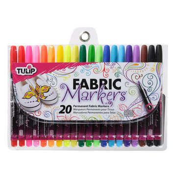 Fabric Markers Fine Writers, 20 Pack by Tulip