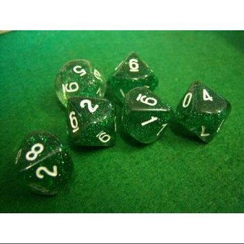 Green Glitter d10s Dice KPL08495 Koplow Games