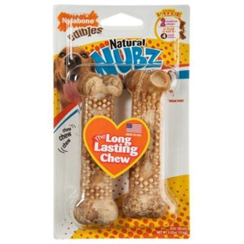 Nylabone Nubz Chicken Flavor Dog Bones - 2 Pack