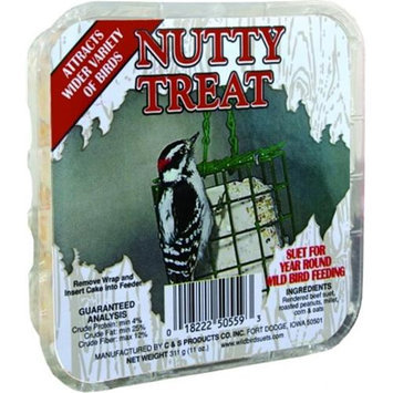C & S C And S Picture Label Suet 11.75 Ounce Nutty CSV50559 Pack of 12