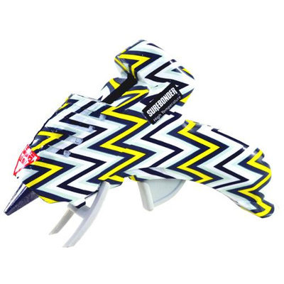 Fpc High-Temp Mini Glue Gun W/Safety Fuse 10 Watt-Chevron Yellow & Black