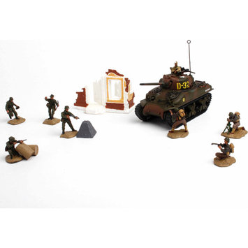 Unimax Forces of Valor U.S. M4A1 Sherman 2nd Armored Division Tank Set