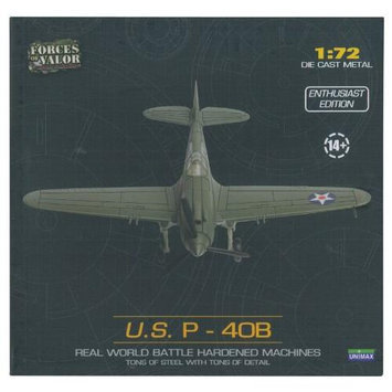 Forces of Valor U.S. P-40B Plane (1:72 Scale) UNXV8519 Forces Of Valor