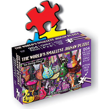 TDC Games 489180 Jigsaw Puzzle 204 Pieces 4 in. x 6 in. -Six String Fling