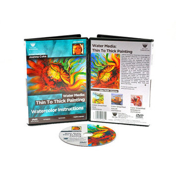 Weber Art Joanna Coke Watercolor Thin To Thick Painting 88 Minute DVD