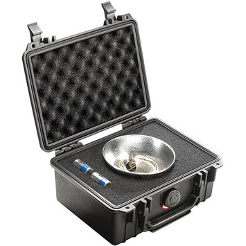 Pelican 1150 Watertight Hard Case with Foam Insert - Silver