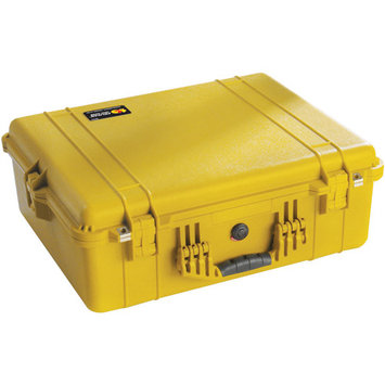 Pelican 1600 Watertight Hard Case with Foam insert - Yellow