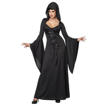 California Costume Collections Deluxe Black Hooded Robe Adult Costume
