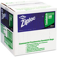 S.c. Johnson Ziploc DRA94600 Sandwich Bags, Clear, Box of 500