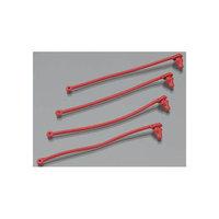 5752 Body Clip Retainer Red Spartan (4) TRAB5752 TRAXXAS