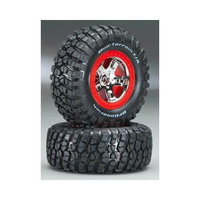 Traxxas 5867 Tire/Wheel Assembled Red Beadlock Fr/Re (2) TRAC5863
