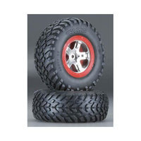 Traxxas 5873R S1 Mntd Racing Tire(2) Re SLH Fr & R SLH Multi-Colored