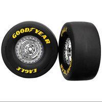 Traxxas 6973 Tires and Wheels Funny Car Rear, 2-Piece TRAC6973 TRAXXAS