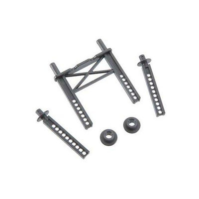 Front and Rear Body Mount: 1/16 Mustang TRAC7314 TRAXXAS