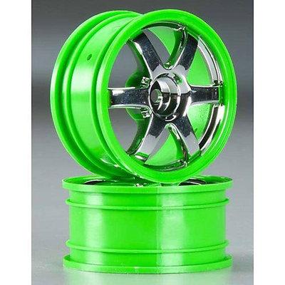 7374 Wheels Volk Racing TE37 Chrome/Green (2) TRAC7381 TRAXXAS