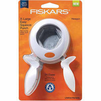 Fiskars X-Large Squeeze Punch, Hexagon
