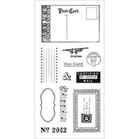 Fiskars Clear Stamp 4inX8in-Certified Mail