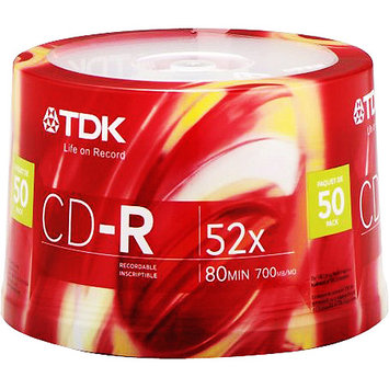 TDK 47896 50 Pack 52X CD-R Spindle