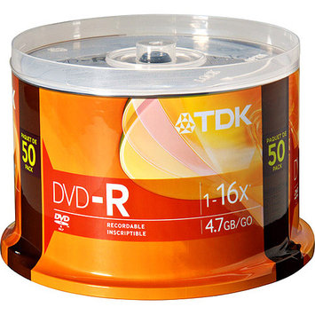 TDK 16X DVD-R 4.7GB 50 Pack Spindle