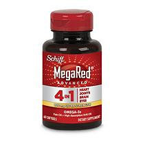 MegaRed Advanced 4 in 1, 2X Concentrated Omega3- 900 mg (60ct)