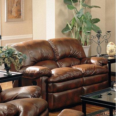 Wayfair - Wildon Home Wickenburg Dual Reclining Bonded Leather Loveseat