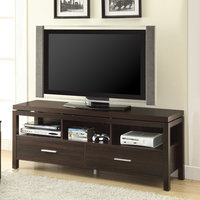 Dark Brown TV Console with Drawers by Coaster Furniture