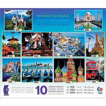 Ceaco Around the World Jigsaw Puzzle 10-in-1 Multi-Pack