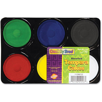 Chenille Kraft 9833 Tempera Cakes, 6 Assorted Colors, 6/Pack