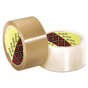 Restockit 3M Scotch 371 Industrial Box Sealing Tape, Clear, 48mm x 50m