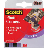 3M 006-C Scotch Photo Corners Self Adhesive 250/Pkg