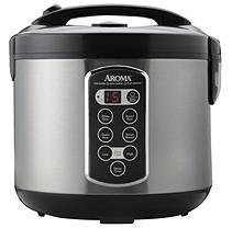 Aroma 20-Cup Digital Rice Cooker and Steamer