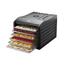 AROMA Food Dehydrator Professional 6-Tray Electric Food Dehydrator in Black AFD-815B