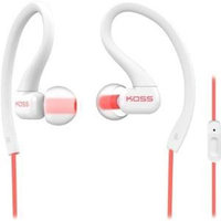 Koss Fitseries Ksc32i Earset - Stereo - White, Coral - Mini-phone - Wired - 16 Ohm - 15 Hz - 20 Khz - Over-the-ear, Earbud - Binaural - In-ear - 3.94 Ft Cable (187858)