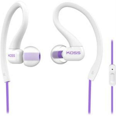 Koss Fitseries Ksc32i Earset - Stereo - White, Purple - Mini-phone - Wired - 16 Ohm - 15 Hz - 20 Khz - Over-the-ear, Earbud - Binaural - In-ear - 3.94 Ft Cable (187874)